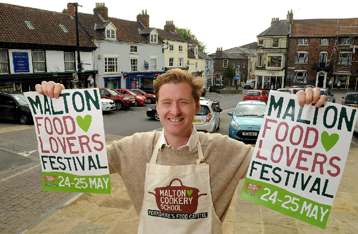 Tom Naylor-Leyland gets ready for this year's Malton Food Lovers Festival