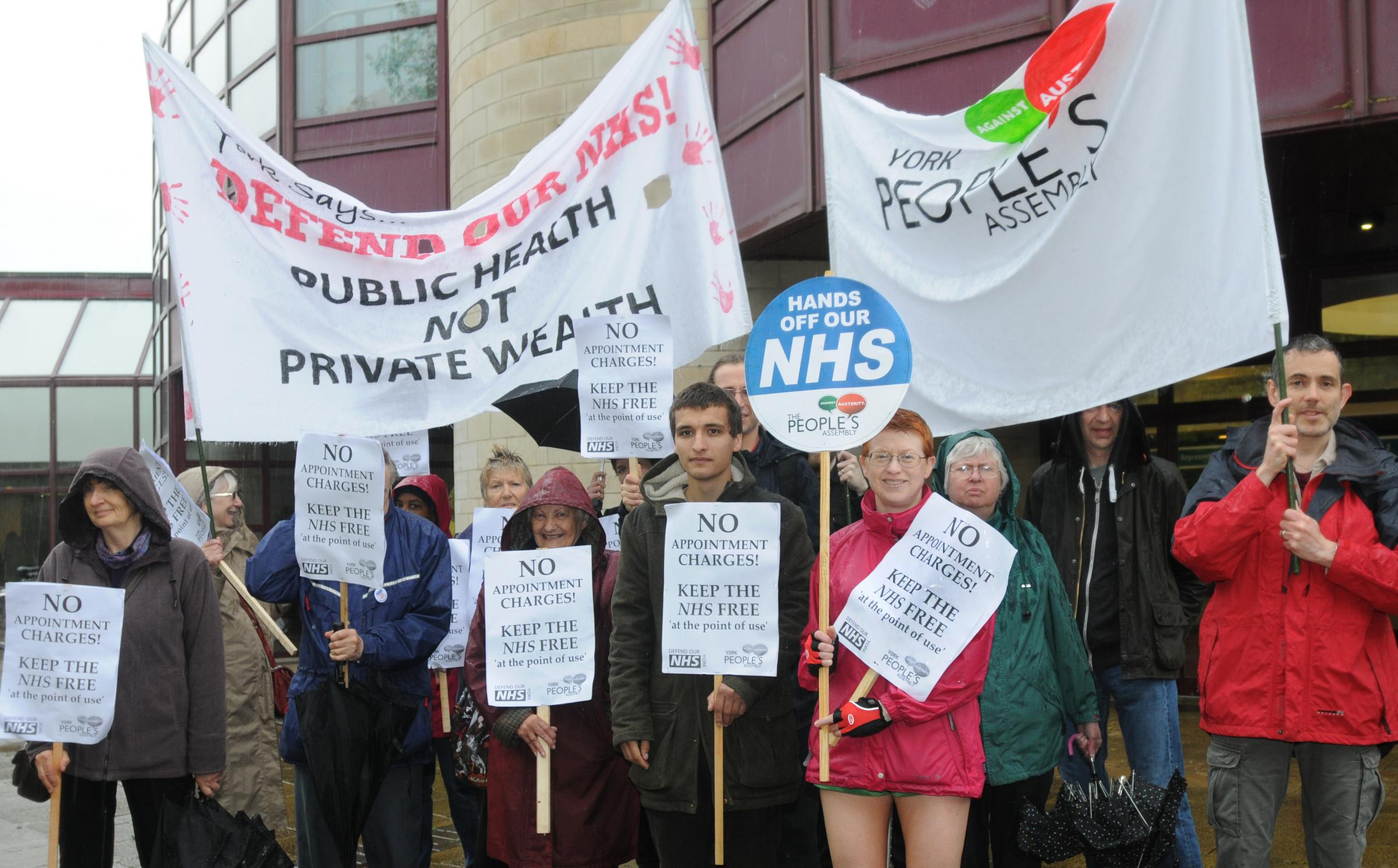Protesters demonstrate against GP charges proposal