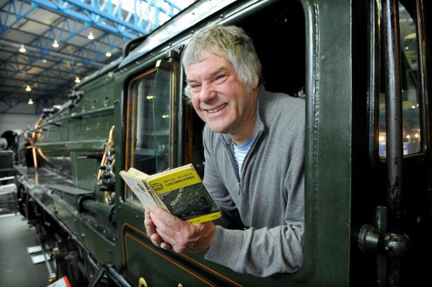 Trainspotter Nick Beilby, on the footplate of Evening Star, at the National Railway Museum.