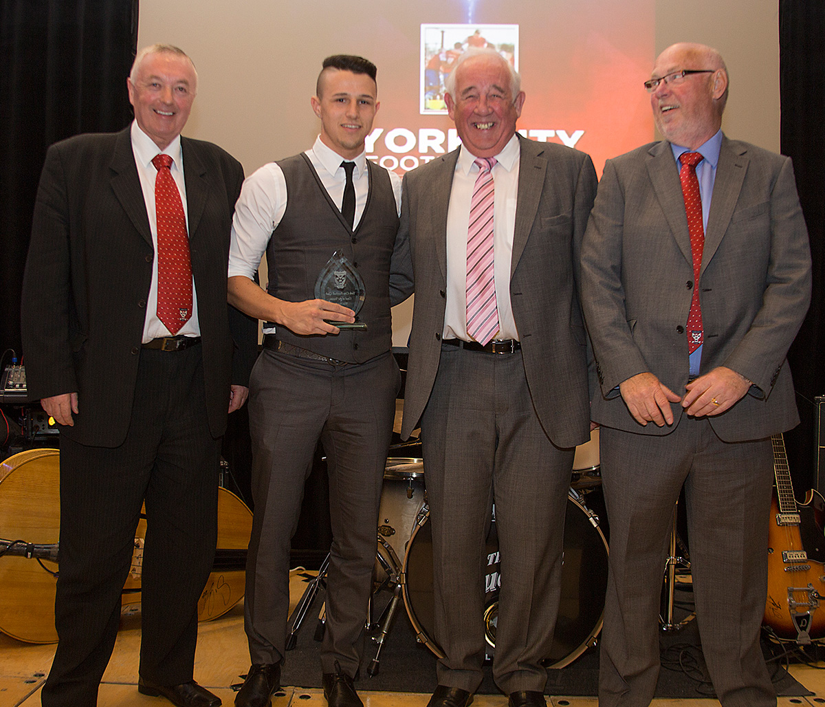 Wes Fletcher receiving the goal of the season award
