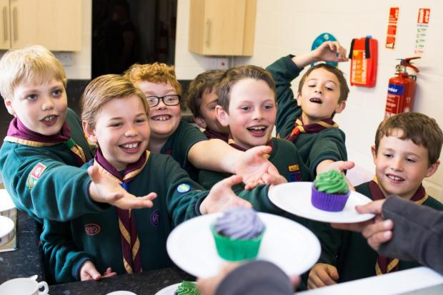 Cubs enjoy tasty treats from the new kitchen