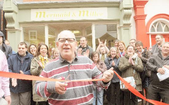 FLASHBACK: Ronnie Milner cuts the tape to officially open Mermaid and Miller in Swinegate in 2013. Picture : Garry Atkinson