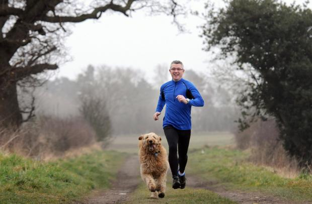 Colin out running in preparation for his fundraising effort