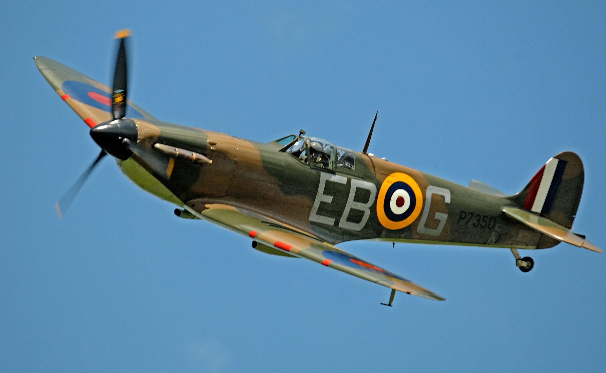 Spitfire take to the skies for Yorkshire Air Museum's Thunder Day