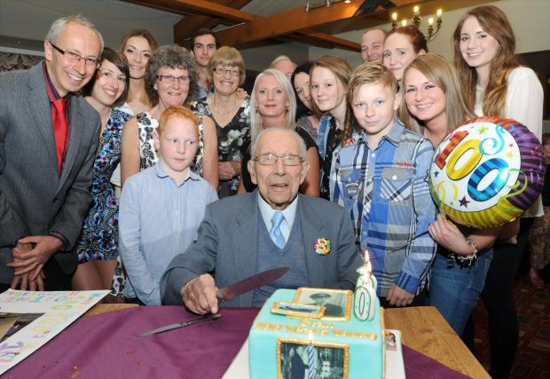Stanley Mings who celebrated his 100th birthday with a party at the Cottage Inn, Haxby on Saturday.