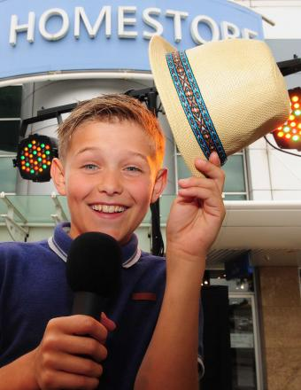 Singing hopeful Jay Casey, aged 12, at the York has Talent event
