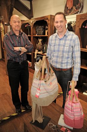 Matthew Johnson, left, and Philip Johnson, who  who are selling their family business Cox's Leather Shop in Shambles