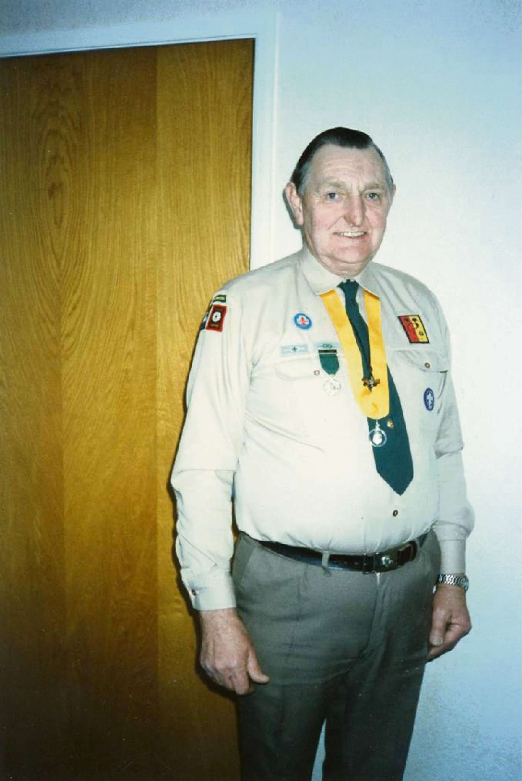 Scout leader Tom Hillbeck who has died, aged 84