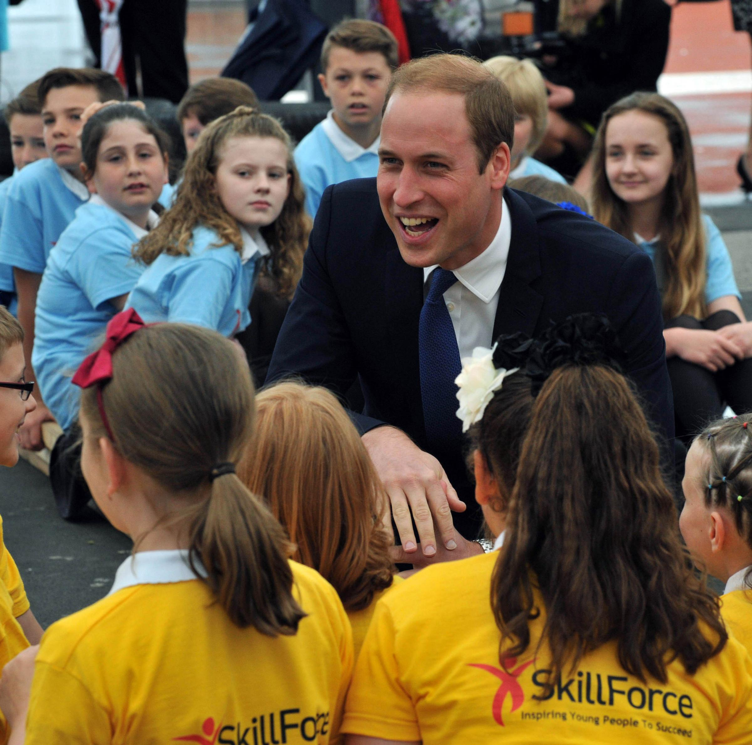 Prince William reveals music tastes during visit to East Yorkshire school
