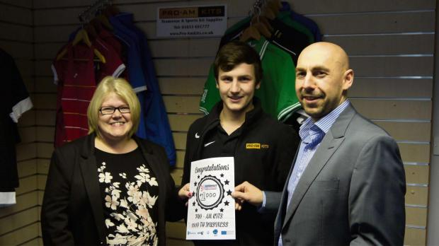 Superfast North Yorkshire business advisor Amanda Rowen with Dan Hodgson, right, and staff member Josh Bown