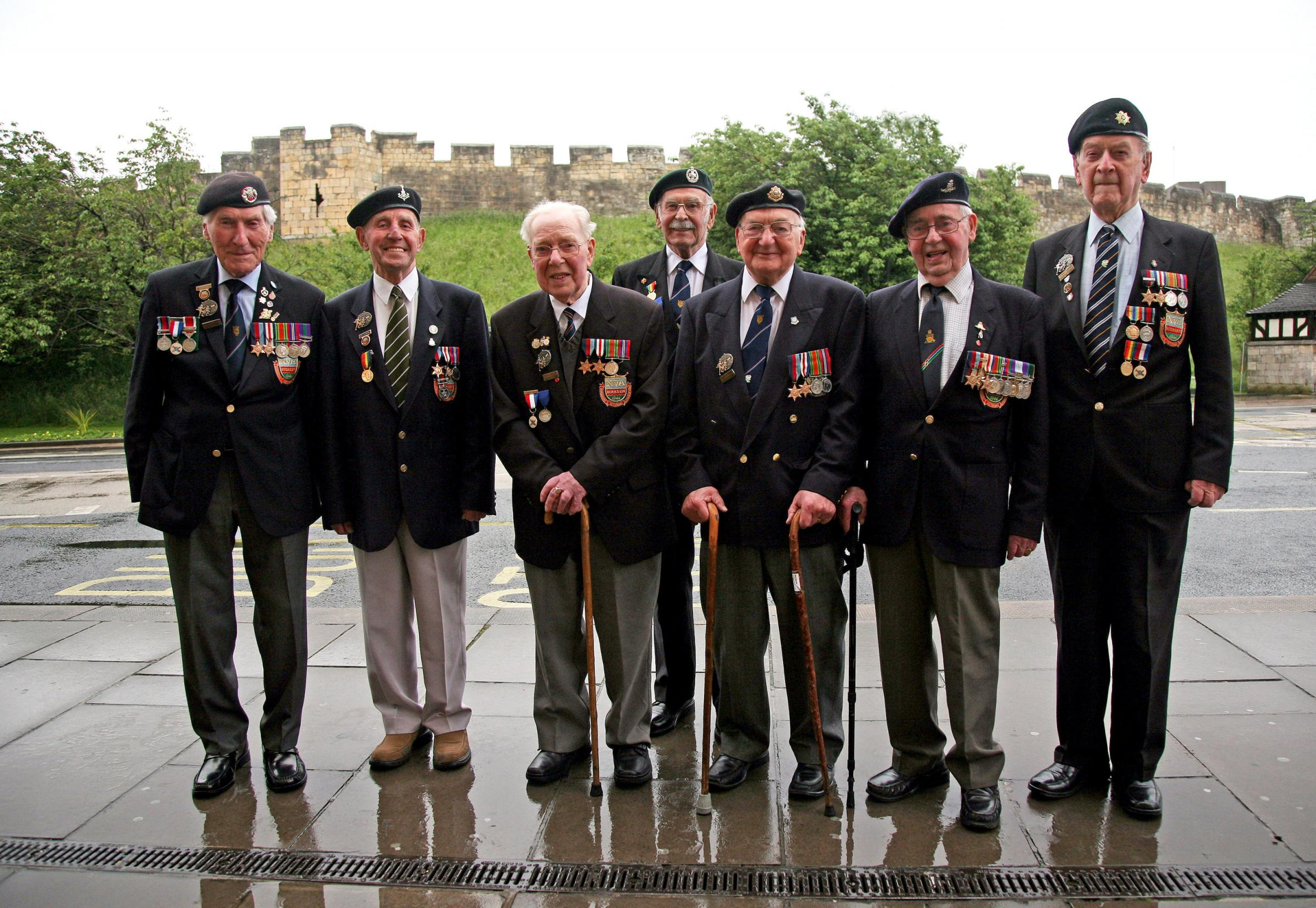 Men of the Normandy Veterans Association in York pictured before leaving for a D-Day Anniversary tour last weekend