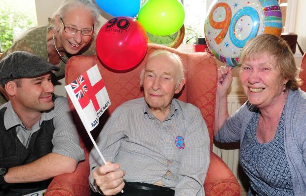 Frank Nottingham celebrated his 90th birthday surrounded by friends and family