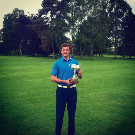 Damon Coulson with the coveted Yorkshire Amateur Championship trophy