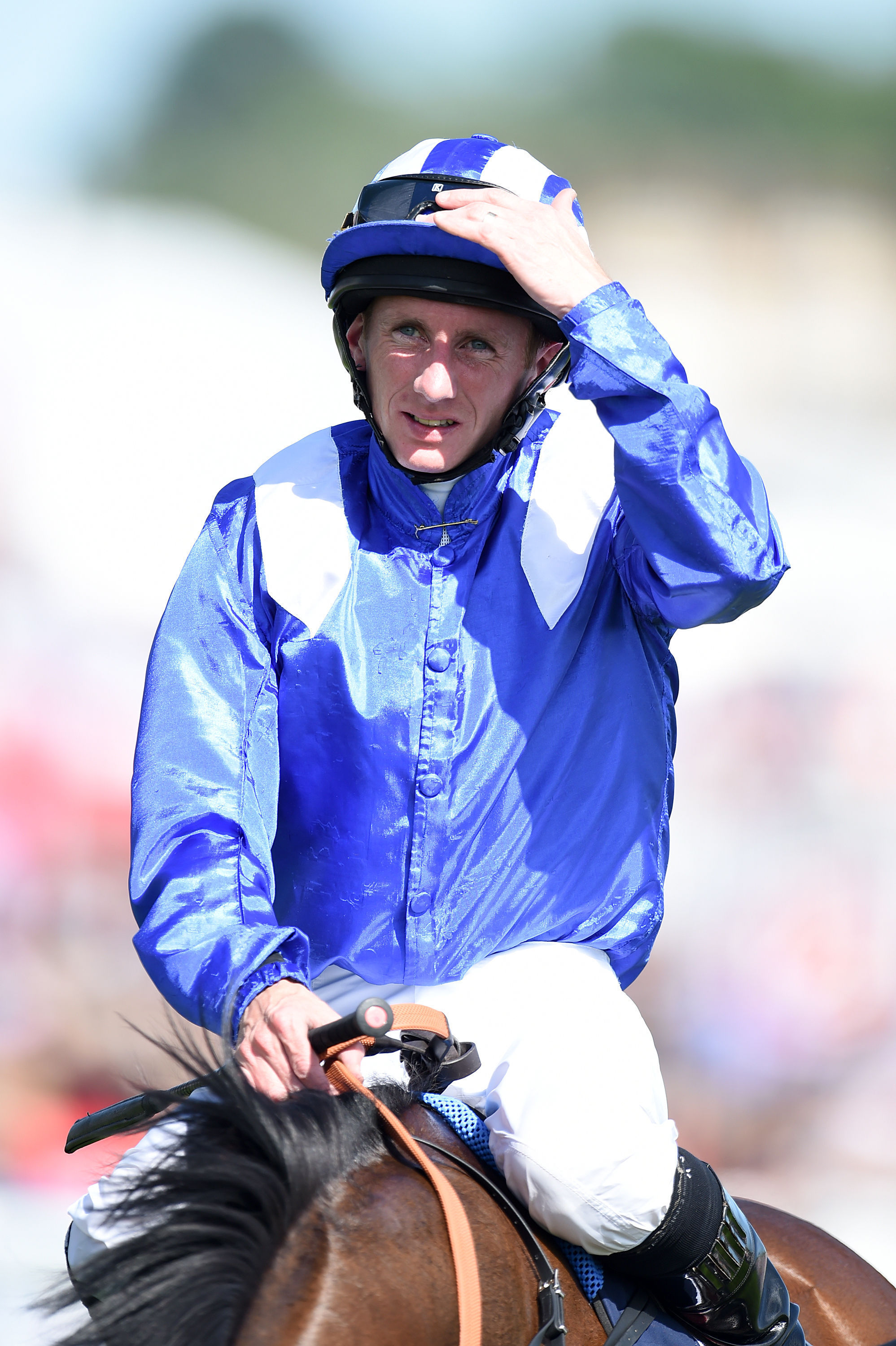 Former Malton jockey Paul Hanagan had to settle for second on Taghrooda