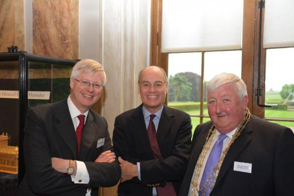 Michael Quicke, Chief Executive of CCLA, the Honorable Mr Simon Howard and Cllr Ian Gillies, Mayor of York
