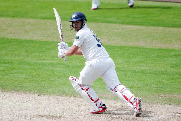 Yorkshire's Aaron Finch en route to a knock of 45 against Nottinghamshire