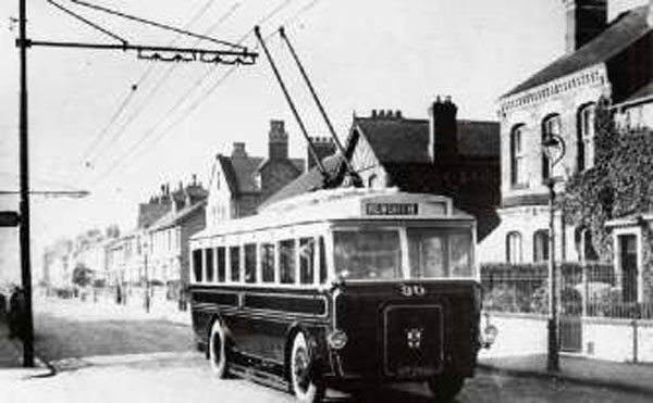 York Press: Trolleybus No 30 in East Parade, Heworth, in the early 1930s