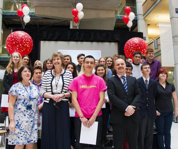 York College's award-winning vocational students with guest speaker Jon Stonehouse, the new director of Children's Services, Education and Skills at City of York Council