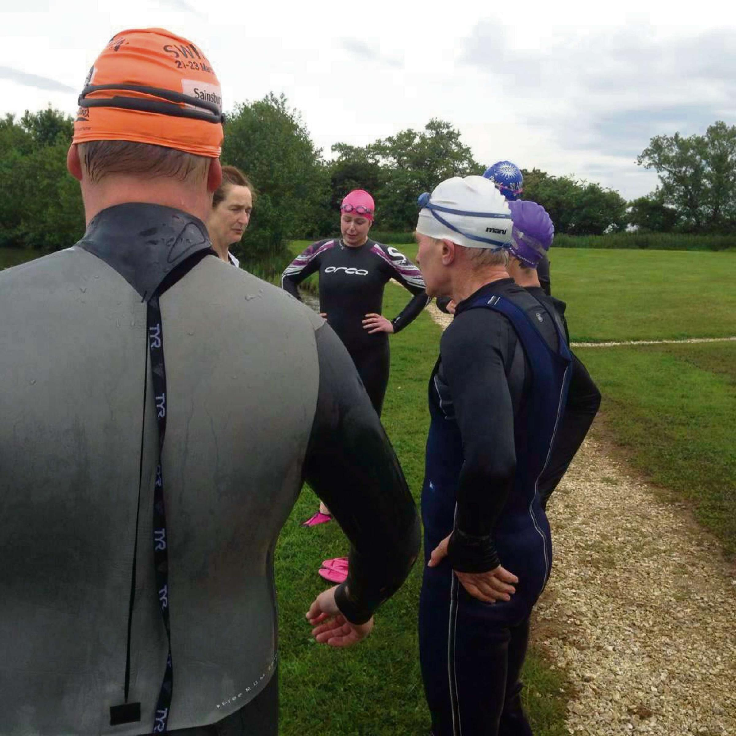 Members of the recently-formed Selby-based Yorkshire Vikings triathlon squad