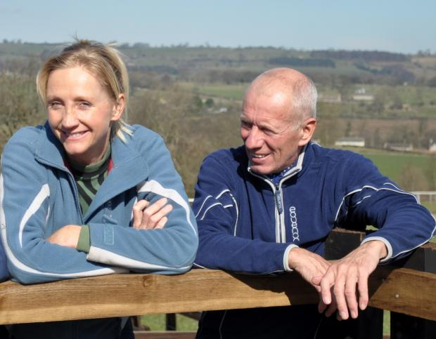 York Press: Former jockey George Duffield, right, with wife and trainer Ann Duffield at their Constable Burton base