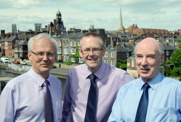 On the balcony at the Bonding Warehouse, during the Dossor MCA launch, (from left) MCA managing director John Clar