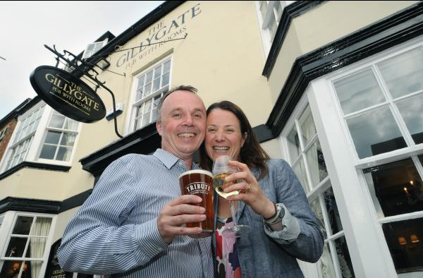 Owners Brian and Suzanne Furey at The Gillygate pub. Pic: Mike Tipping