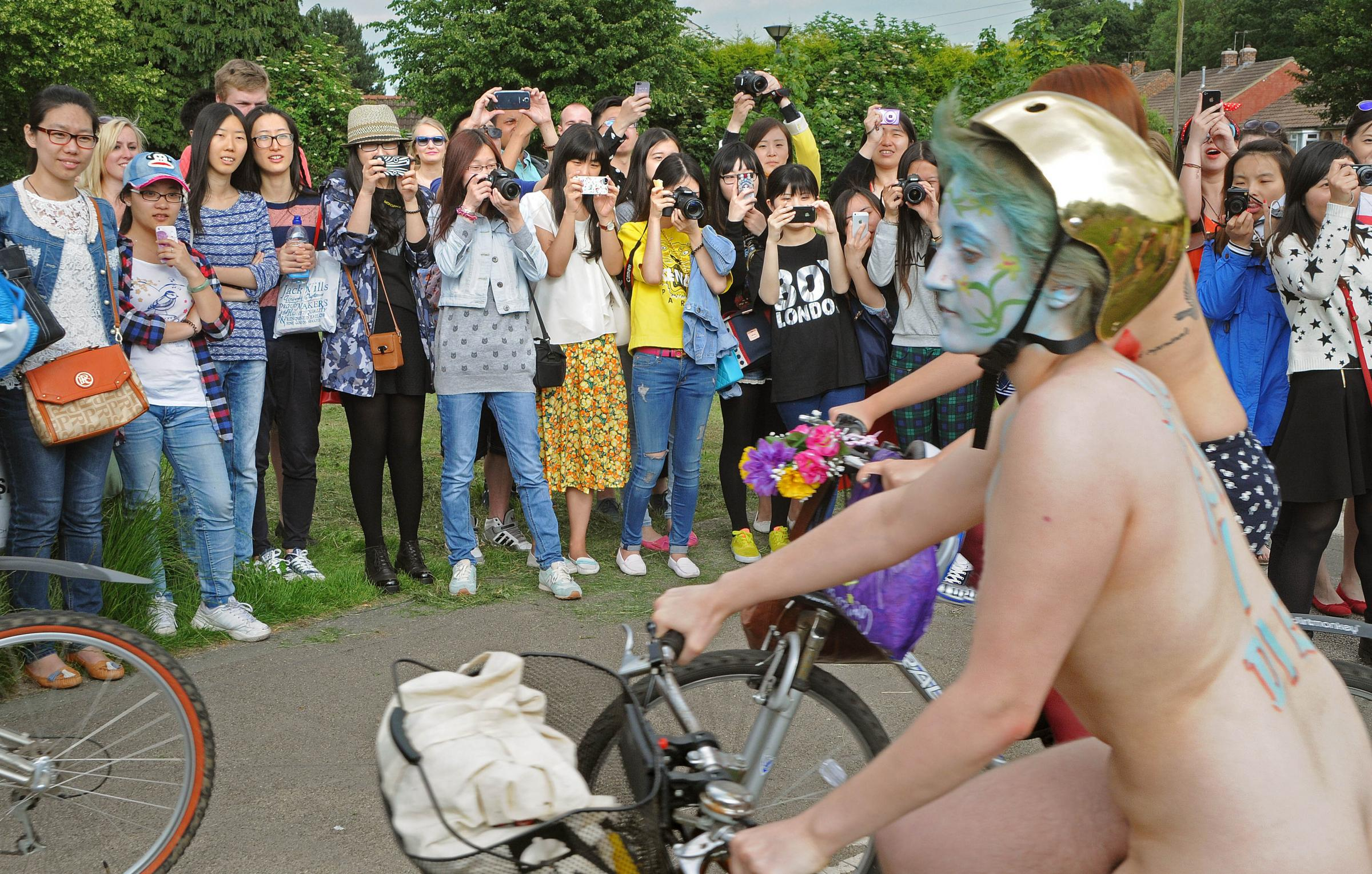 Cyclists bare all in World Naked Bike Ride