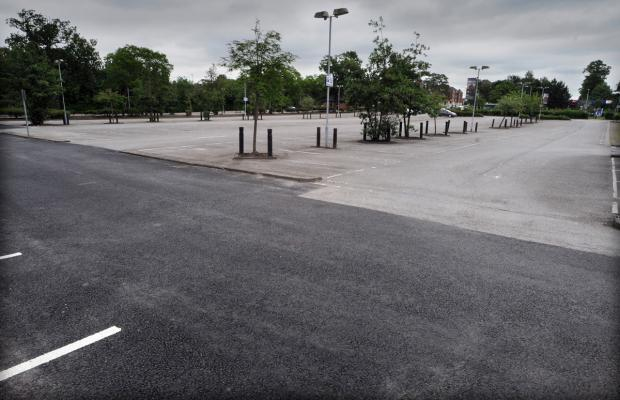 The empty car park at the former Askham Bar Park & Ride, York