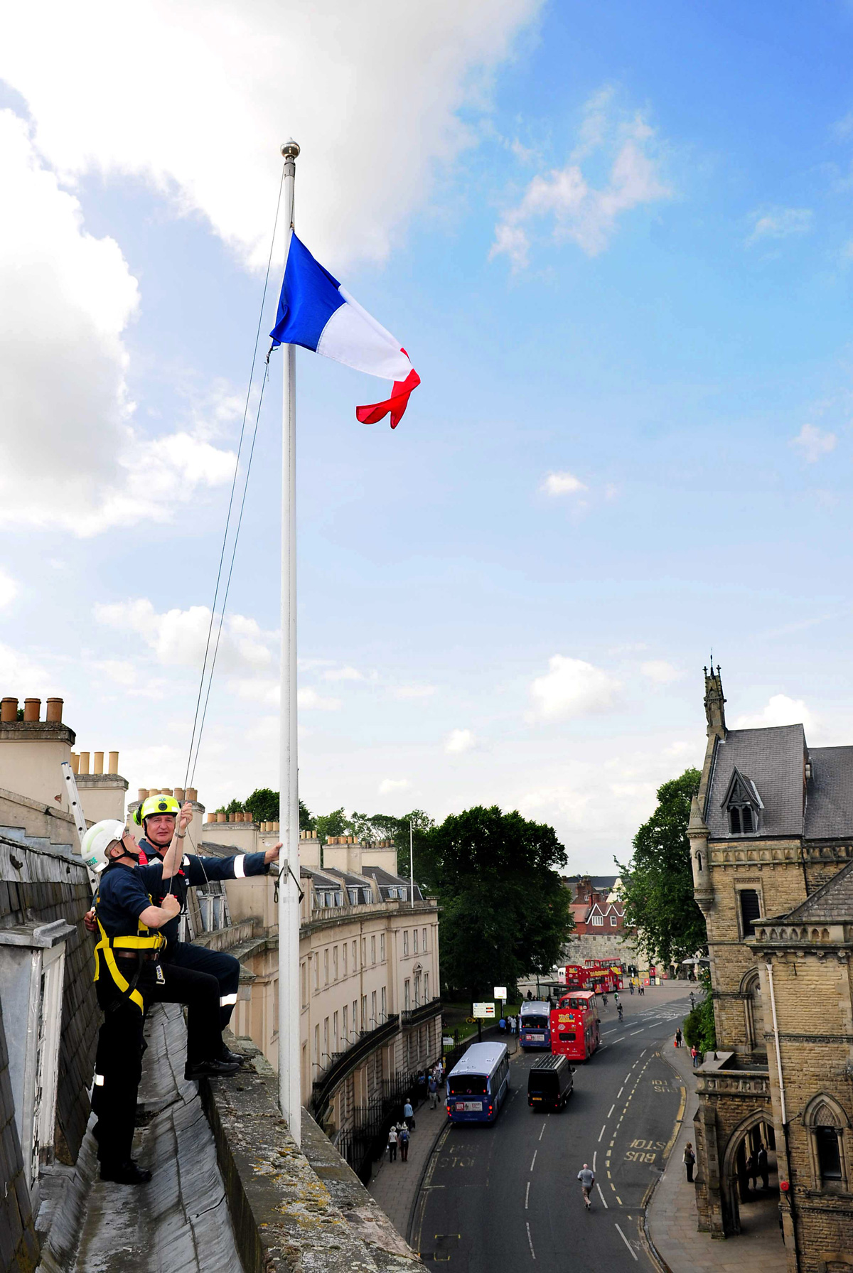 French flag flies over York ahead of Tour de France