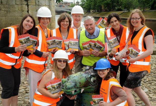 Frank Paterson, of York Rotary Club, with the Young Archeologists, who have entered this year's Dragon Boat Races