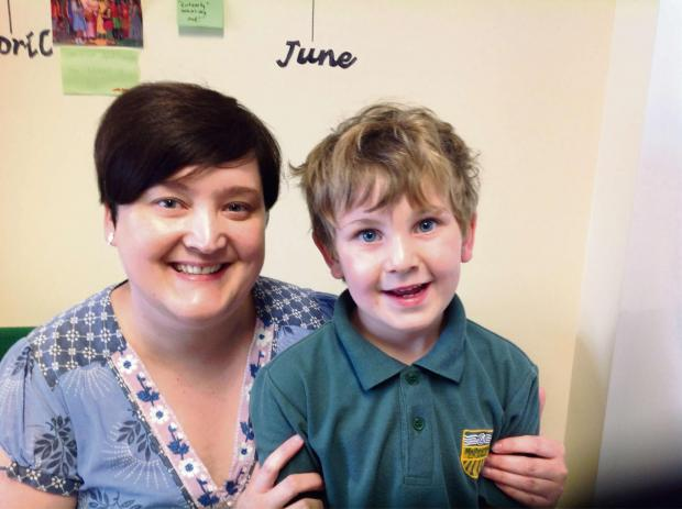 Teacher Kate France and pupil Eddie Burns, who nominated her for the Community Pride awards.