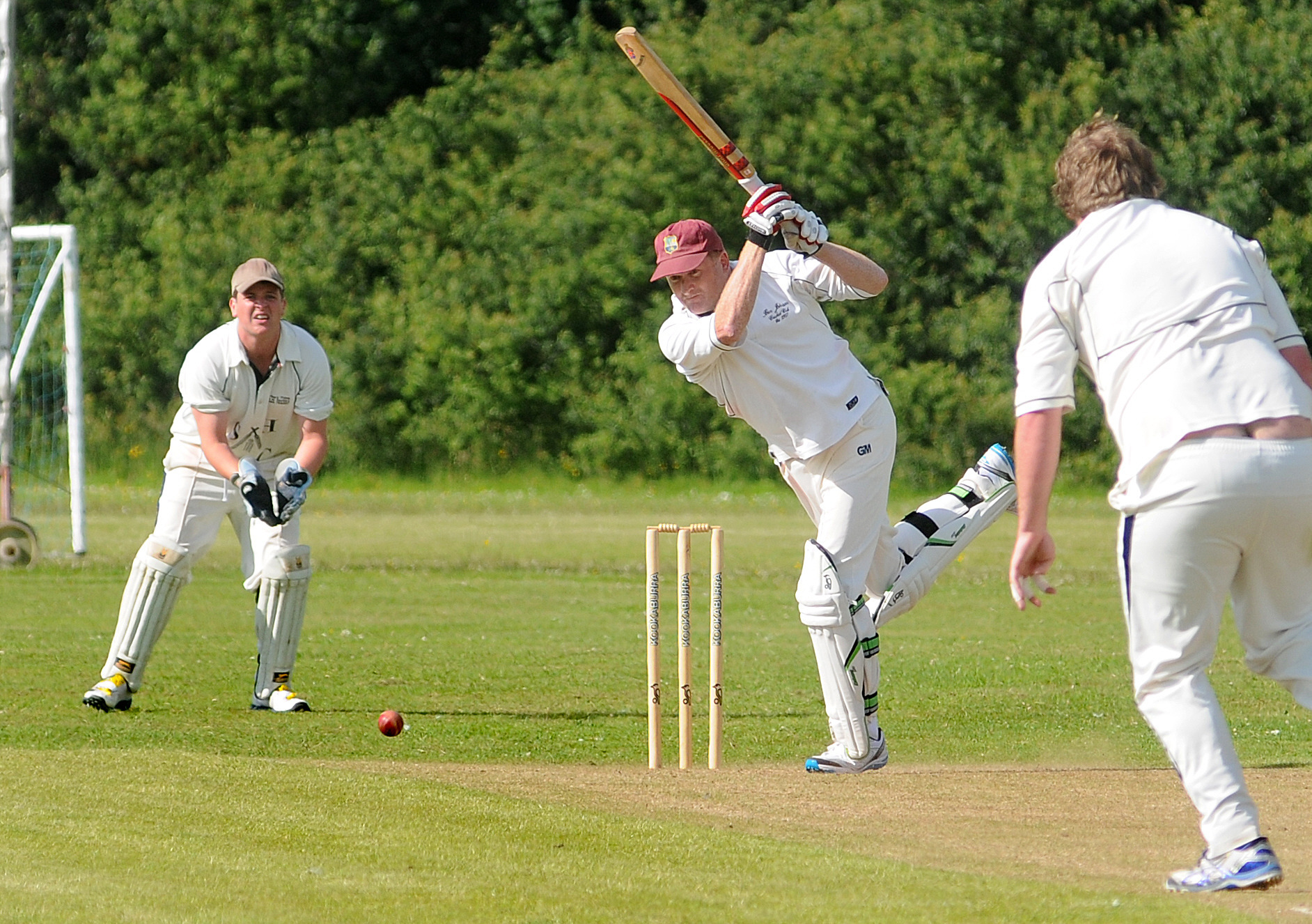 Stockton & Hopgrove CC v Ben Johnson's CC. Pictured is Ben Johnson's batsman Steve Wragg.