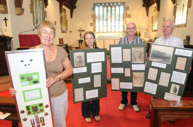 TIME TO REMEMBER: Holy Trinity Church , Acaster Malbis,is holding aPreparing for a First World World anniversary evening at Holy Trinity Church, Acaster Malbis, are, from left, Lynne Connell-Smith,  Catrina Appleby, Richard Connell-Smith and Roger Raimes