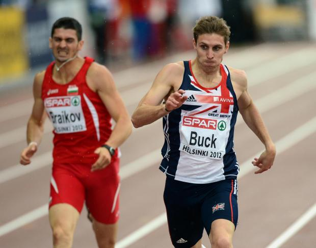 Great Britain's Richard Buck runs in the semi finals of the Men's 400m during day two of the 21st European Athletics Championships at the Helsinki Olympic Stadium