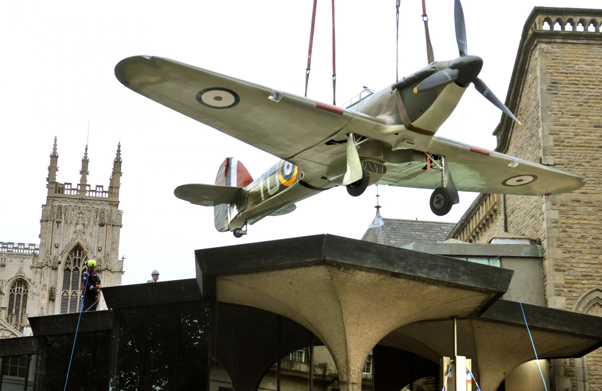 Aeroplane lands on top of York Theatre Royal