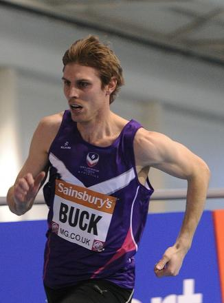 Richard Buck in action in the Men's 400m Heats during day one of the British Athletics Indoor Championships at the English Institute of Sport, Sheffield.