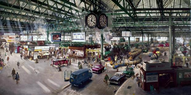 York Press: Waterloo Station: Painted by Terence Cuneo in 1967