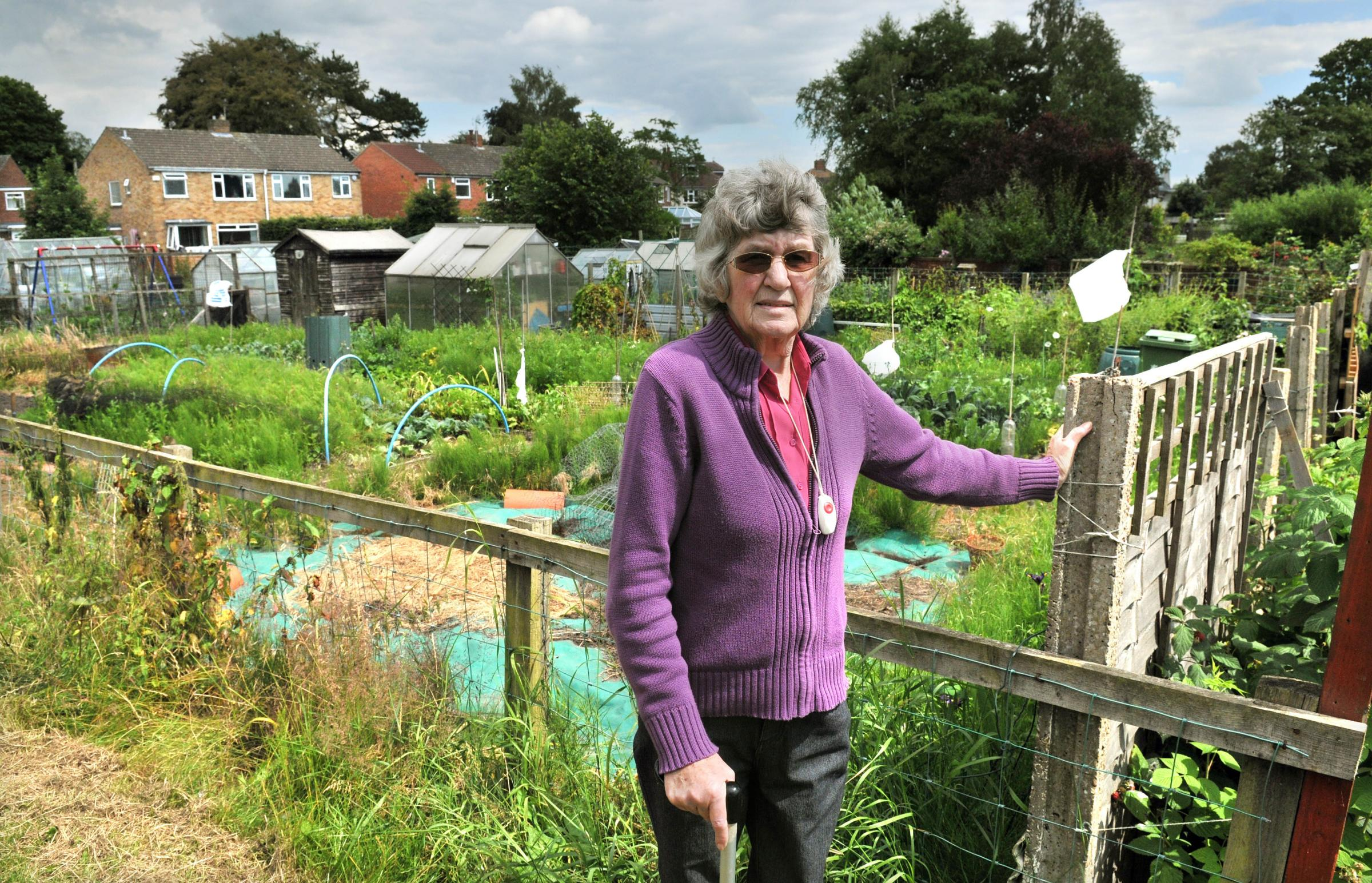 Pauline Wright at the Green Lane allotments.