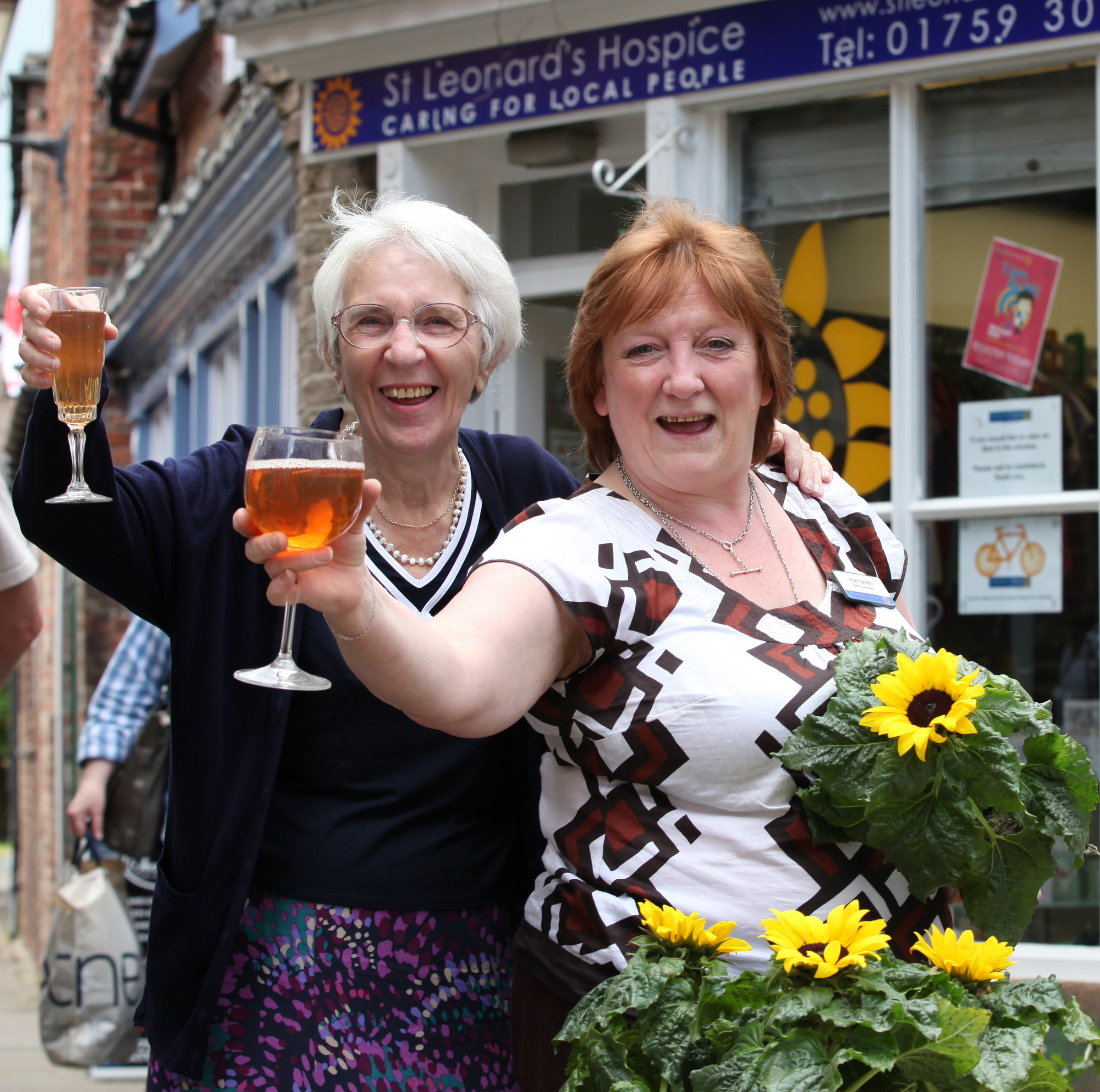 Pam Smith, right, manager at the St Leonard's Hospice Shop, in Pocklington for the past 16 years, and Olwen Thompson, volunteer assistant for 14 years