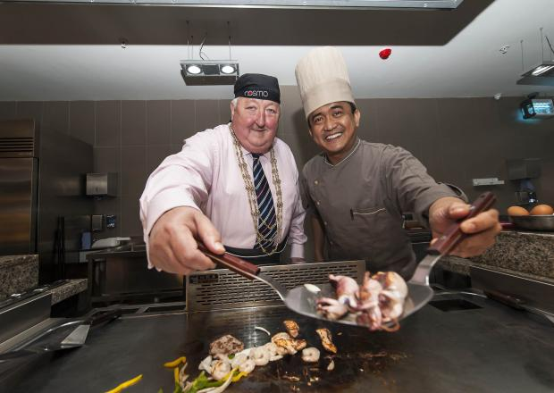 Lord Mayor of York, Cllr Ian Gillies, pictured with a COSMO chef