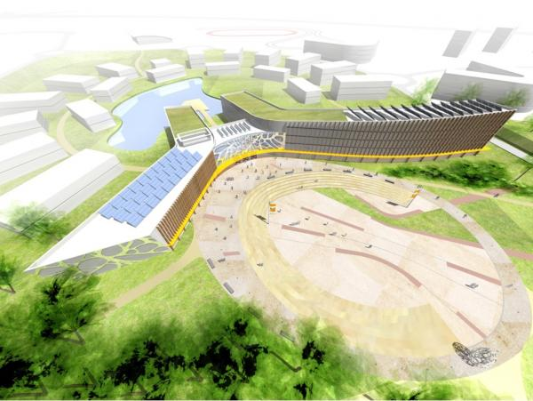 An artist's impression of the proposed Bio-Hub at Heslington East