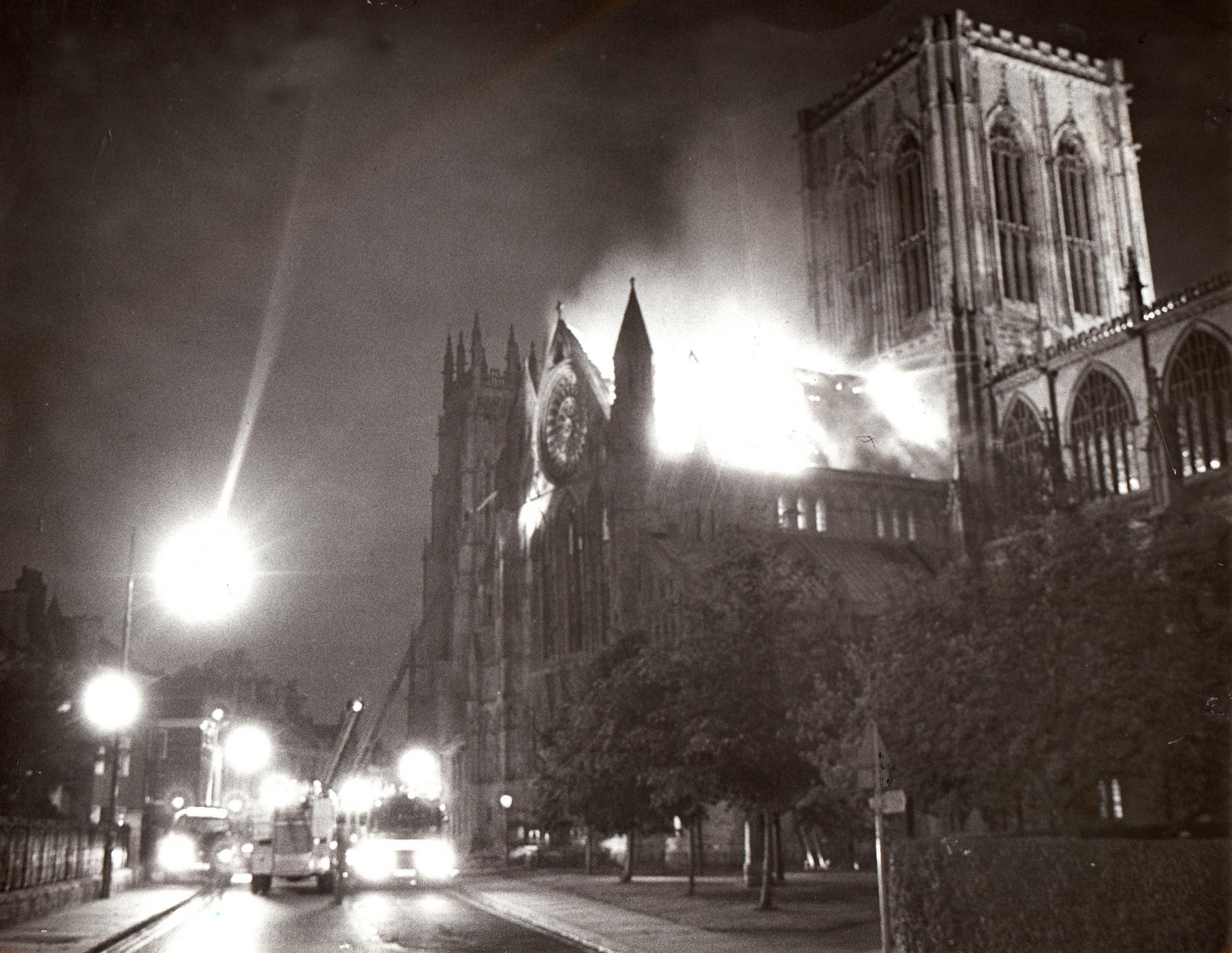The night when fire hit York Minster