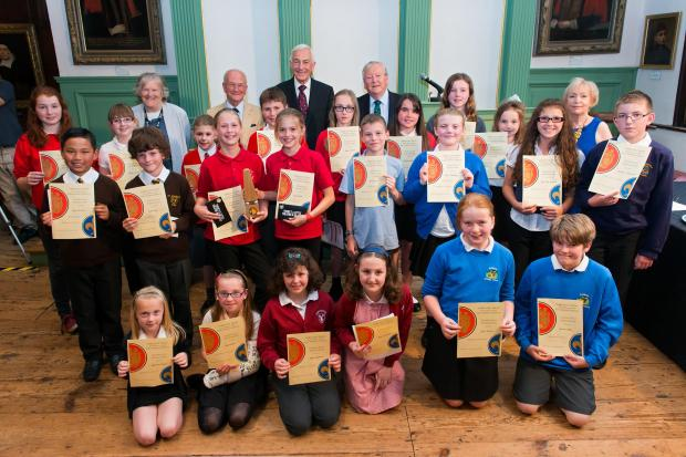 Pupils who took part in the public speaking contest