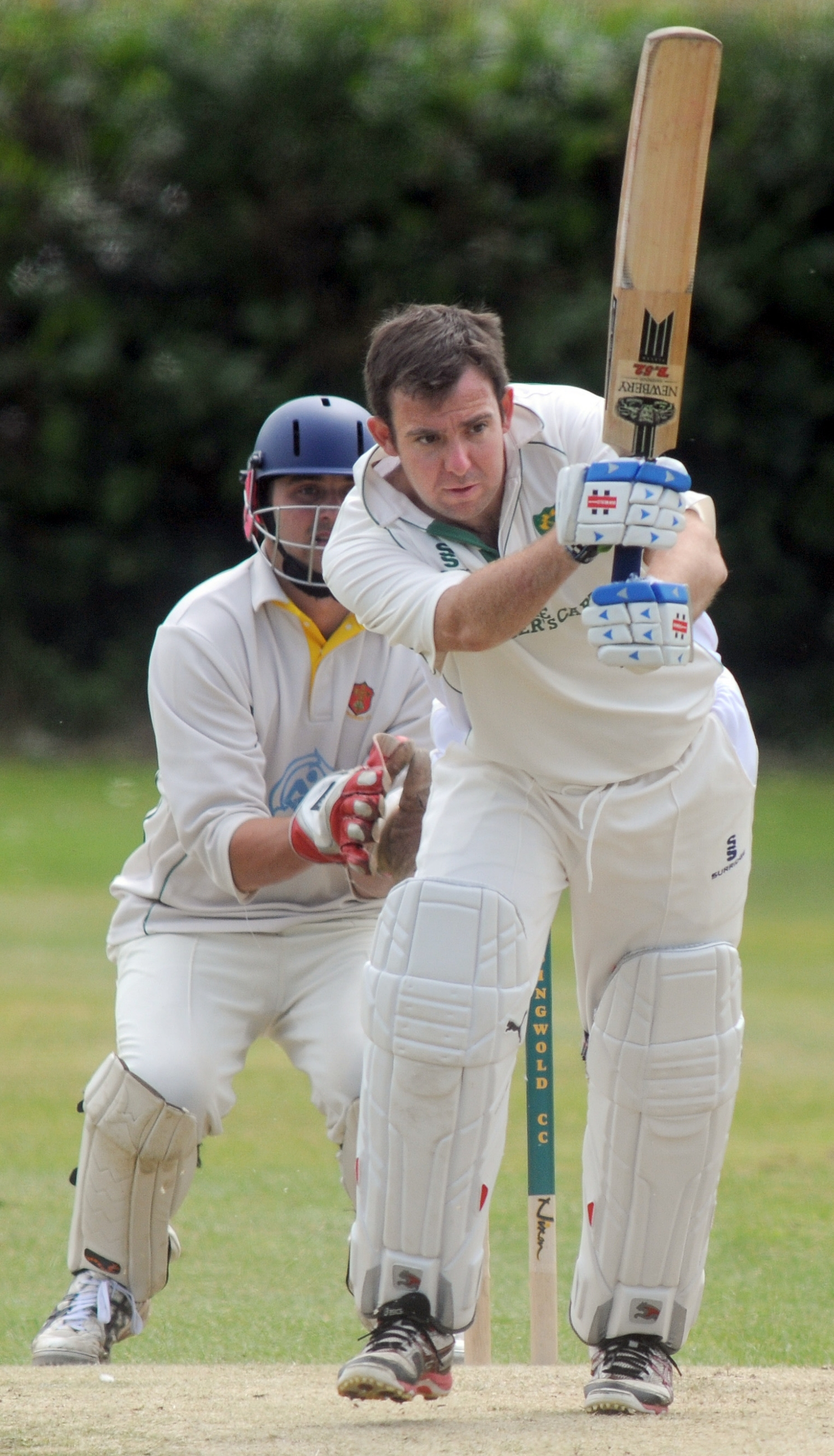 Stamford Bridge batsman Kev Murphy adds to his tally against Easingwold.