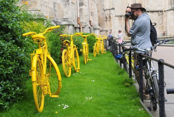 Yellow-painted bikes are saved from ending up on scrap heap