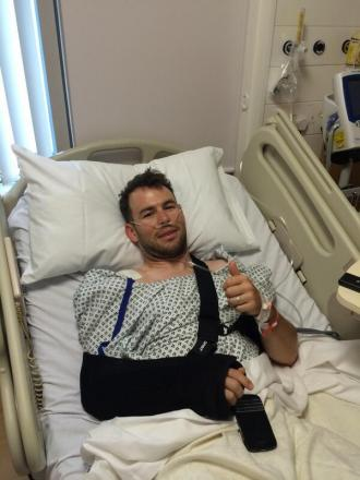 Mark Cavendish wakes up after surgery