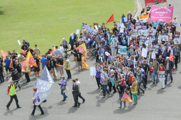 More than 200 march through York city centre in pay protest