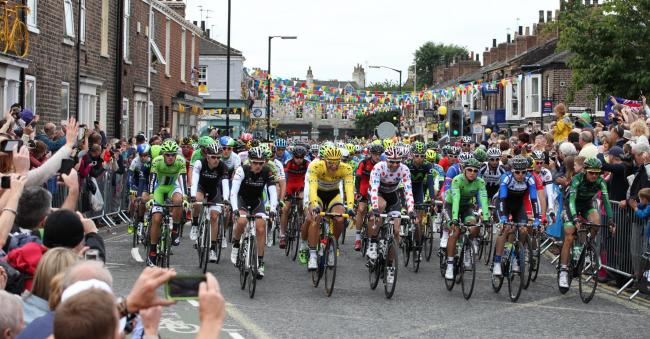 The Tour de France in Bishopthorpe Road