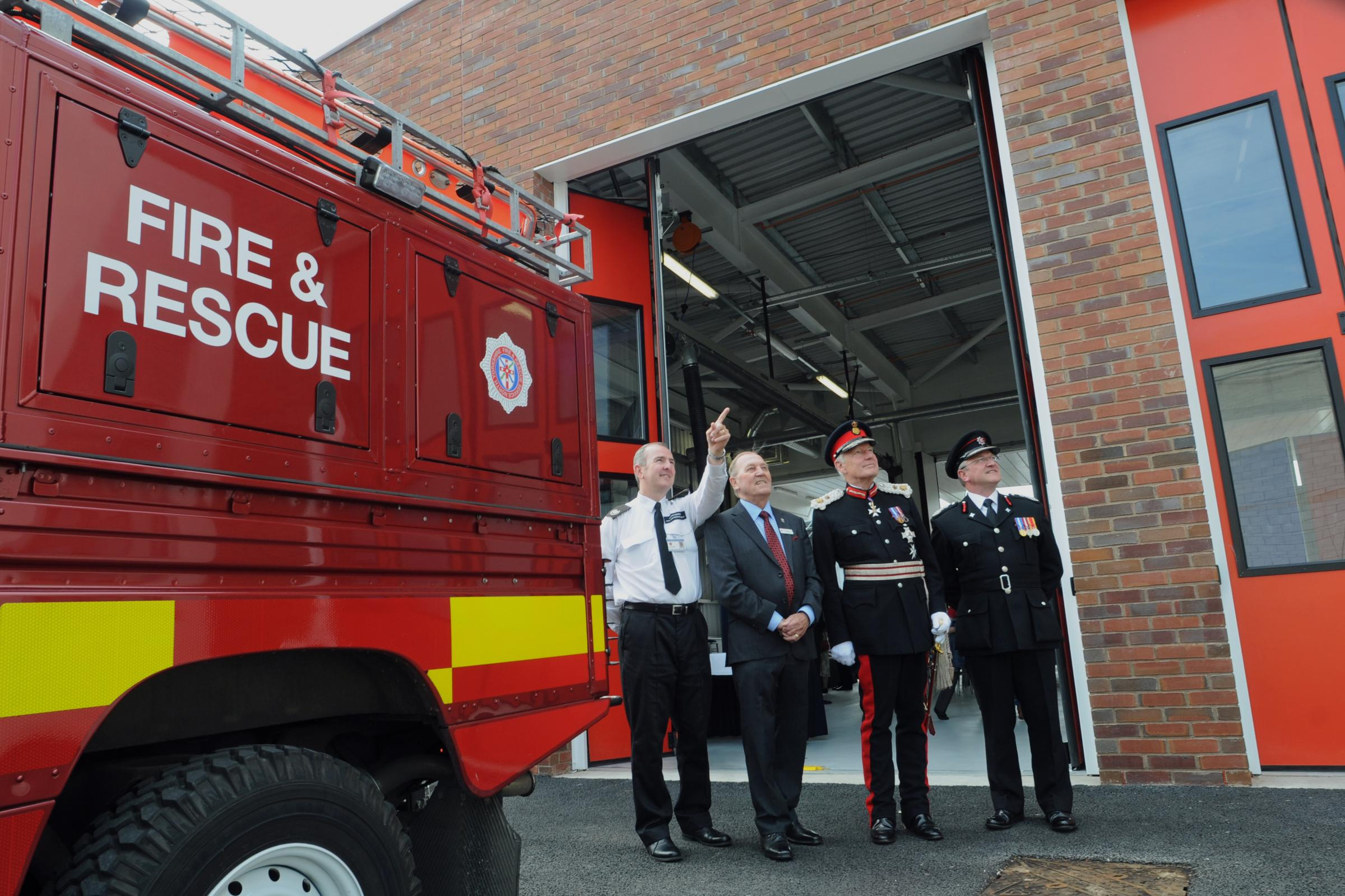 At the official opening of the new Fire station, in Kent Street, (from left) Group Commander Da