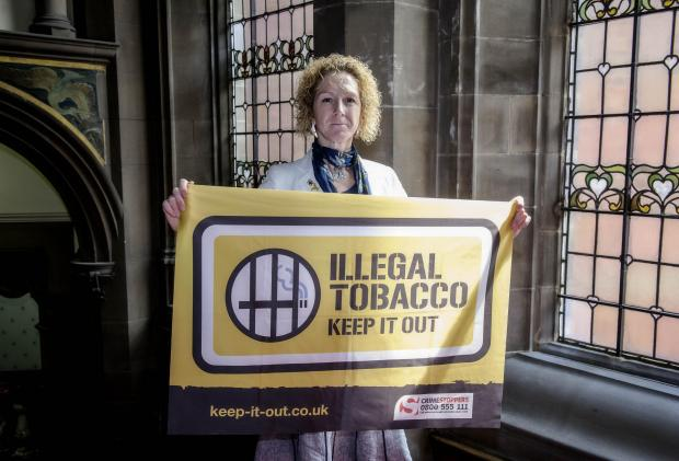STRONG MESSAGE: Councillor Tracey Simpson-Laing is backing the drive against illegal tobacco sales.
